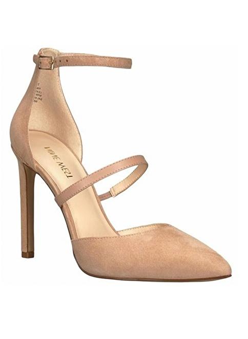 Nine West İnce Topuklu %100 Süet Ayakkabı Ten